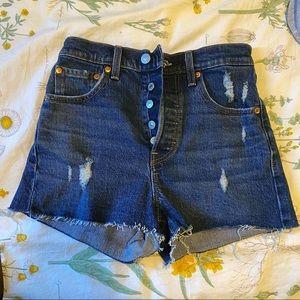 Levi's high waisted denim shorts (24)